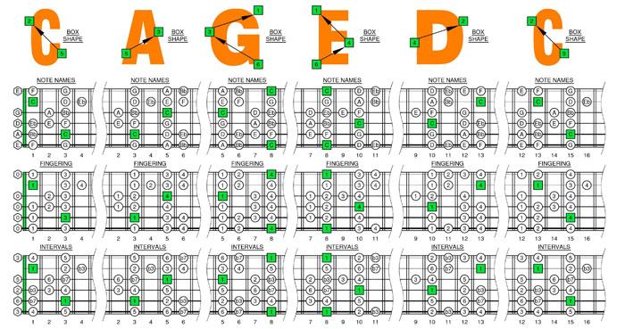 BLOGoZON No.215 - 6 string (EADGBE - standard tuning) C octatonic ...